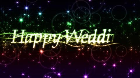 happy wedding title loop Animation