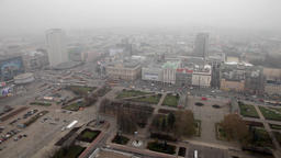 warsaw skyscrapers view from Palace of Culture and Science Poland Footage