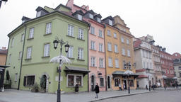 Historic Centre old town of Warsaw, Poland Live Action