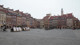 Historic Centre old town of Warsaw, Poland Footage