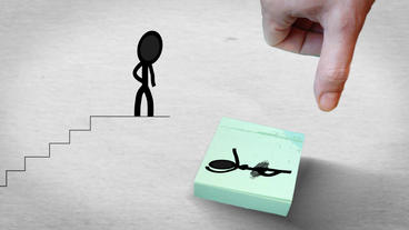Wedding Invitation with stick figures After Effects Template