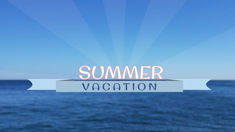 Summer vacation title - Apple Motion and Final Cut Pro X Template Apple Motion Template