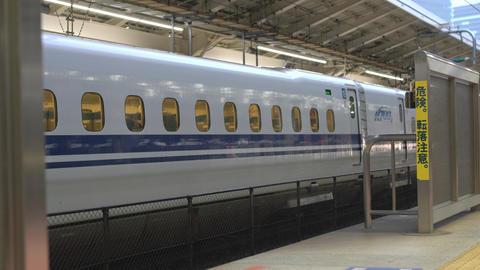 Tokyo,Japan-October 4, 2019: JR Hokuriku or Nagano Shinkansen Asama departing from Tokyo station, Live Action
