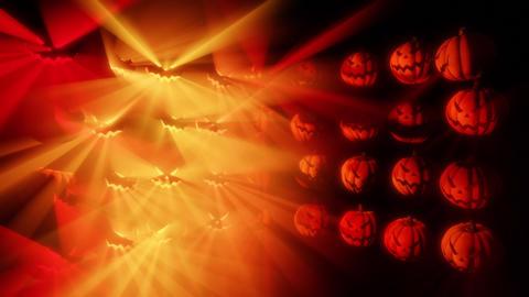 Halloween Pumpkins warm light grid Loop Animation