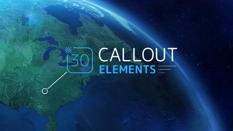 Callout Elements After Effects Template
