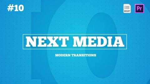 NEXT Media - Modern Transitions Motion Graphics Template