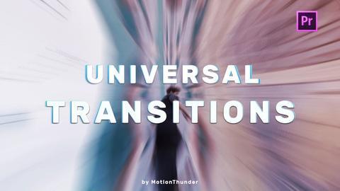 Transitions - Universal Seamless Plantillas de Premiere Pro