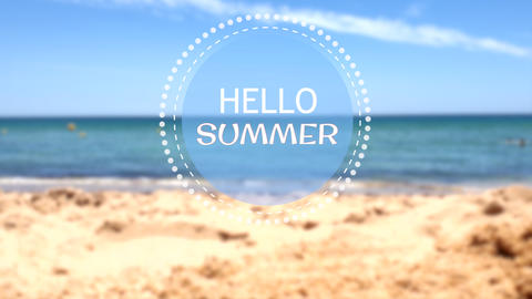 Hello Summer title - Apple Motion and Final Cut Pro X Template Apple Motion Template