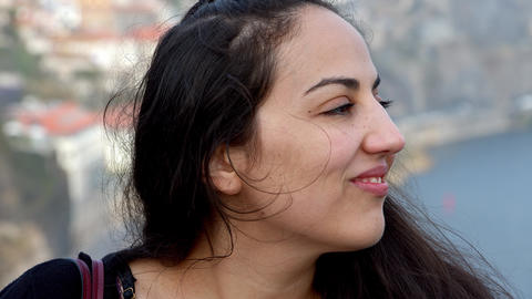 Portrait shot of a cute girl in the city of Porto Live Action