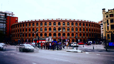 Time lapse shot of Spain, Barcelona ancient historical infrastructure Footage