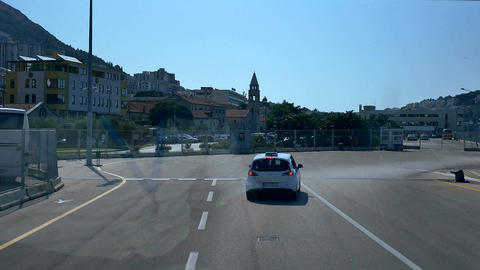 bus trip from Croatia, Dubrovnik cruise port to old town Footage