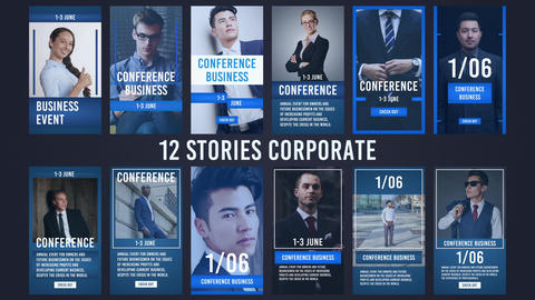 12 Stories Corporate After Effects Template