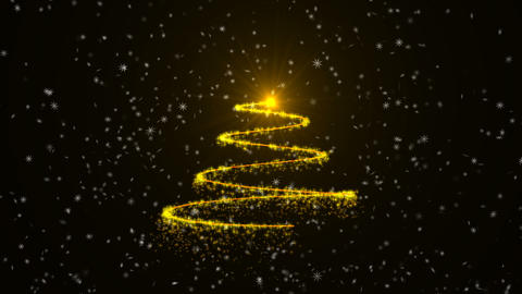 Christmas tree animation background, Stock Animation