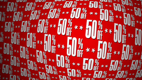 50 Percent Off Text Motion Background, Twirl GIF