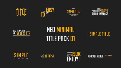10 Minimal Title Pack 01 MOGRT Motion Graphics Template