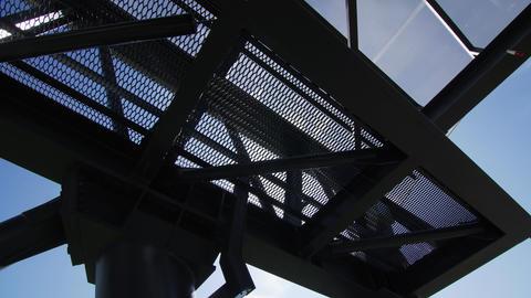 motion under station for string transport low angle shot Footage