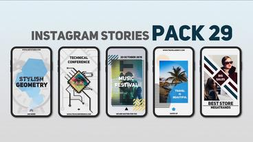 Instagram Stories Pack 29 After Effectsテンプレート