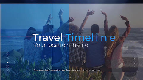 Travel Timeline Plantilla de Apple Motion