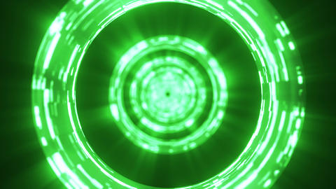 Abstract VJ tunnel green Animation