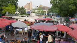 Street market on Connaught Place,New Delhi,India Footage
