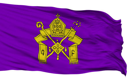Armenian Apostolic Church Religious Isolated Waving Flag Animation