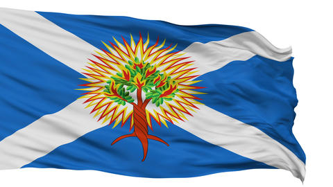 Church of Scotland Religious Isolated Waving Flag Animation