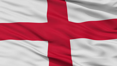 England Religious Close Up Waving Flag Animation