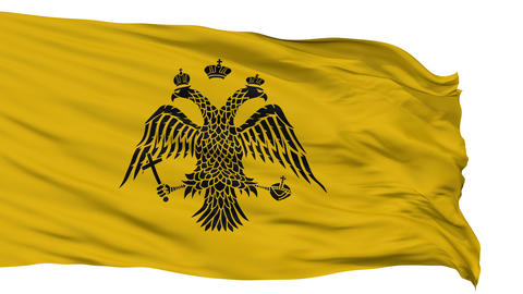 Patriarch of Constantinople Religious Isolated Waving Flag Animation