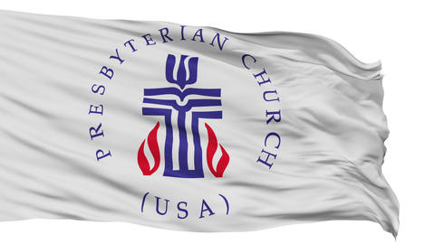 Presbyterian Religious Isolated Waving Flag Animation