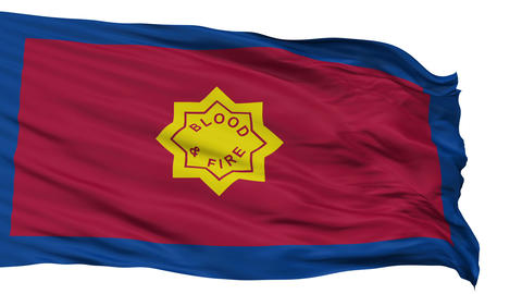 Standard of the Salvation Army Religious Isolated Waving Flag Animation