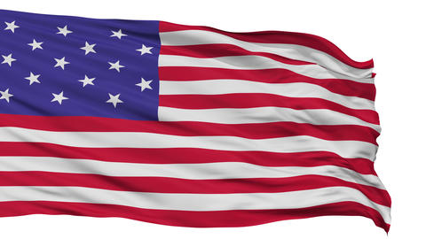 Star Spangled USA Isolated Waving Flag Animation