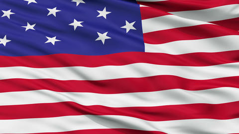 Star Spangled USA Close Up Waving Flag Animation