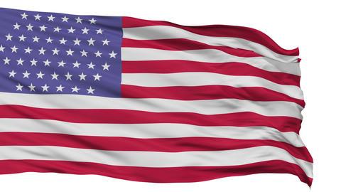 51 Stars USA Isolated Waving Flag Animation