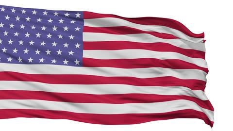 53 Stars USA Isolated Waving Flag Animation