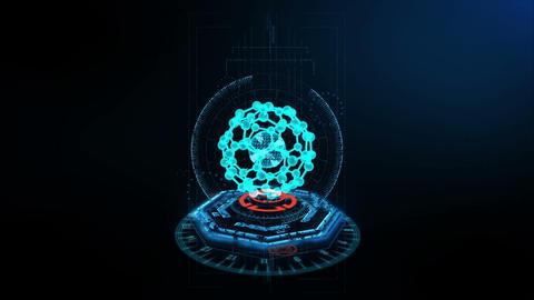 3D Scene Atom CG動画素材