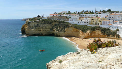 View of Carvoeiro from East Footage