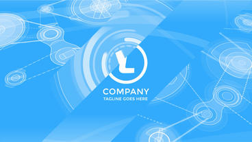 Corporate Logo Opener With Elements Of Flat Machinery After Effects Project