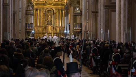 Independence day Bicentennial celebrations mass in Buenos Aires Cathedral, Natio Footage