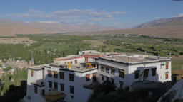 View over Spituk monastary into Indus valley,Spituk,Ladakh,India Footage