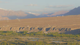 Indus river and valley in late afternoon,Spituk,Ladakh,India Footage