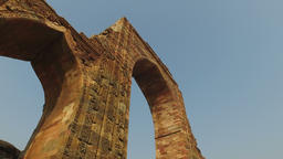 Arches at the Qutb Minar complex - India Footage