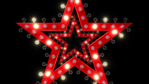 Star shaped sign with an alpha channel. Loops Seamlessly Stock Video Footage