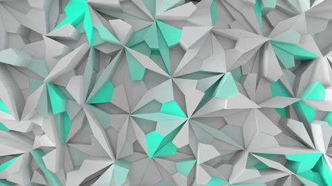 Abstract 3D geometric background with color shifting shapes Footage