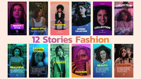 12 Stories Fashion After Effects Template
