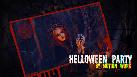 Halloween Intro & Slideshow After Effects Template