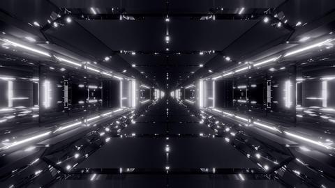 futuristic sci-fi space ship tunnel corridor 3d illustration live wallpaper Animation