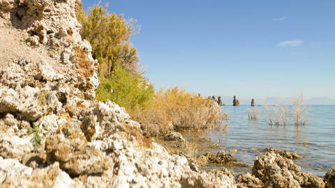 Amazing rock formations around Mono Lake in California Live Action