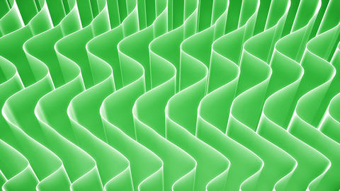 Abstract nature curved green veils background loop Animation
