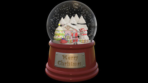Santa In Glassball Animation