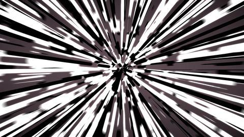 Stylized black and white rays warp background loop Animation